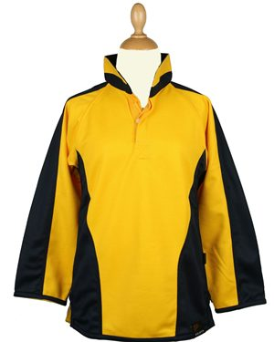 Falcon Tuxford Rugby Shirt Junior Sizes Yellow Navy £16.25
