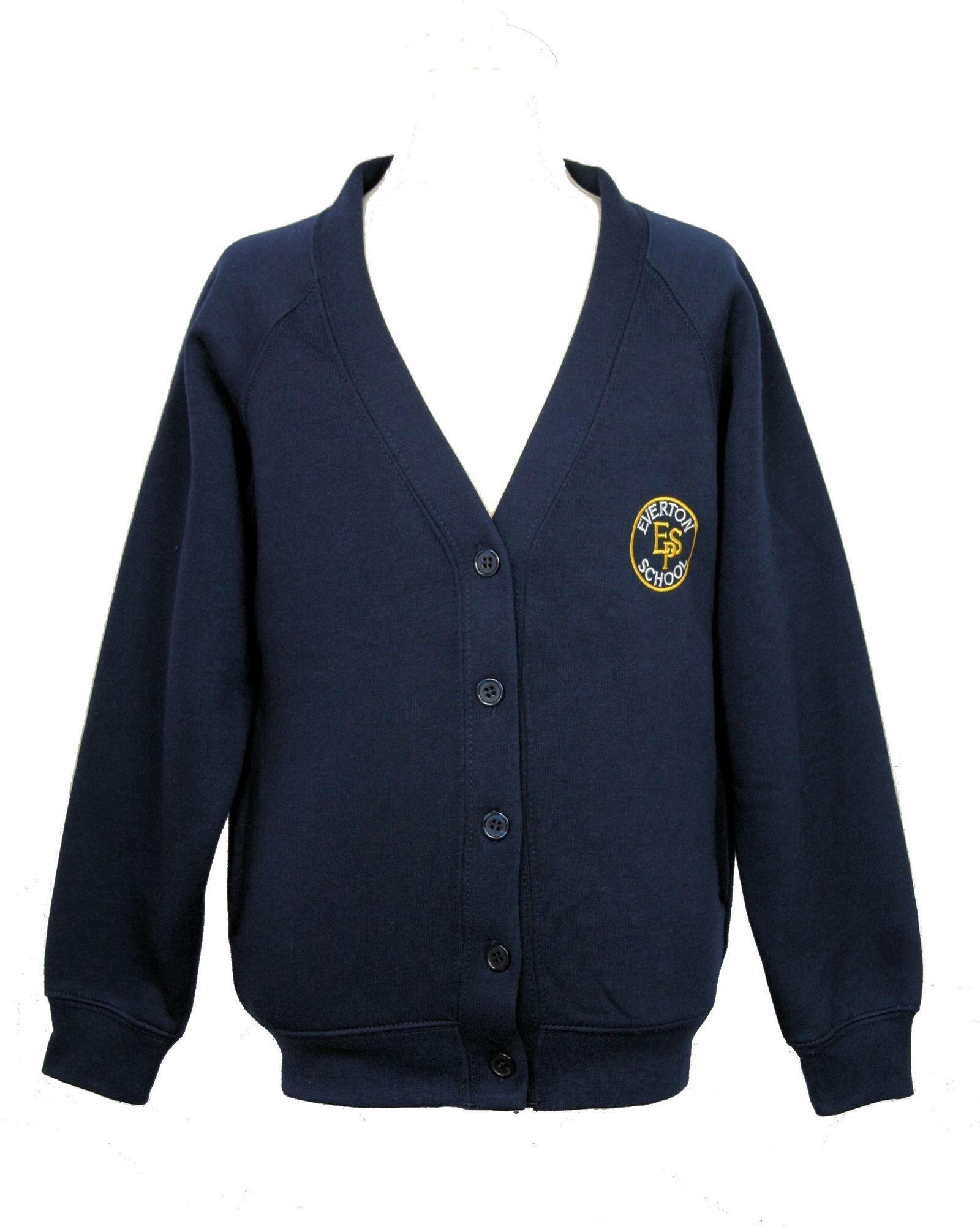 Everton Primary navy blue cardigan - K & H Sports