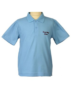 Rowlinson Lowes Wong blue polo with embroidered logo Blue £9.00